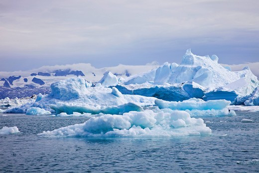 Stock Photo: 1848-463877 Icebergs in the Sermilik Fjord, Ammassalik District, East Greenland, Greenland, Denmark