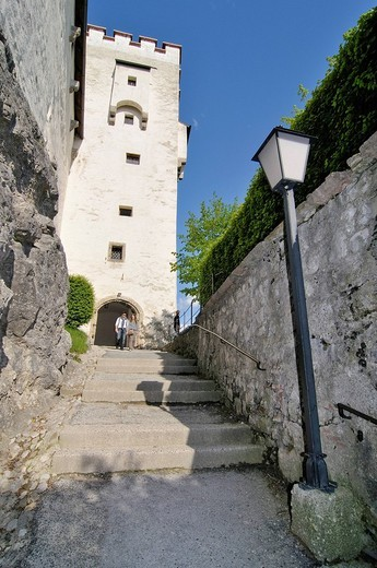 Tower of the Hohensalzburg Fortress, Salzburg, Austria, Europe : Stock Photo