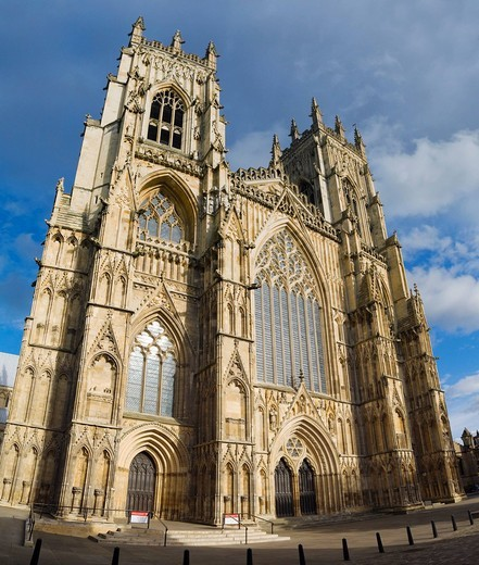 Stock Photo: 1848-464595 York Minster west entrance, York, Yorkshire, England, United Kingdom, Europe