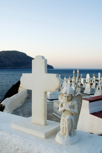 Stock Photo: 1848-464846 Cemetery of Pigadia on the Greek island of Karpathos, Greece, Europe