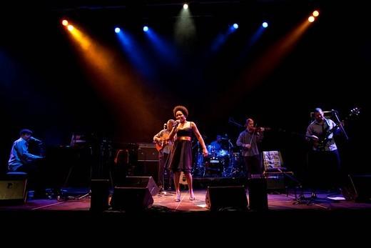 Stock Photo: 1848-465085 The Portuguese_Cape Verdean singer Maria de Lurdes Pina Assunção aka Lura live in the Suedpol venue Lucerne, Switzerland