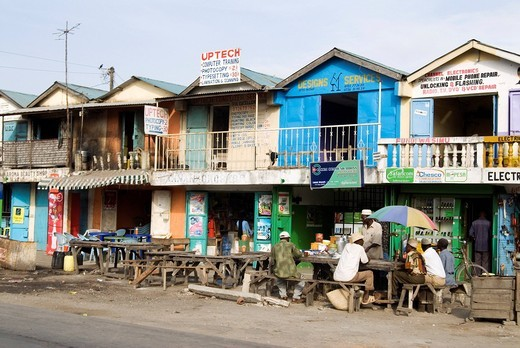 Street scene in the south of Mombasa, Kenya, Africa : Stock Photo
