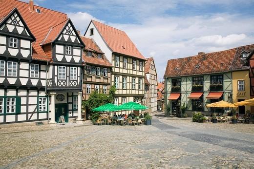 Schlossberg, Quedlinburg, Saxony_Anhalt, Germany, Europe : Stock Photo