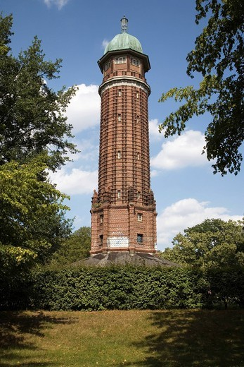 Water tower in Volkspark Jungfernheide, Charlottenburg, Berlin, Germany, Europe : Stock Photo