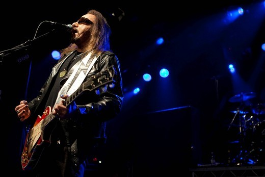 Stock Photo: 1848-466266 US musician and ex_KISS guitarist Ace Frehley live at the Schueuer concert venue, Lucerne, Switzerland