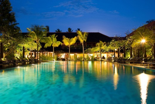 Stock Photo: 1848-46629 Swimming pool of the Santika Beach Hotel, Tuban, Kuta, Bali, Indonesia, Asia