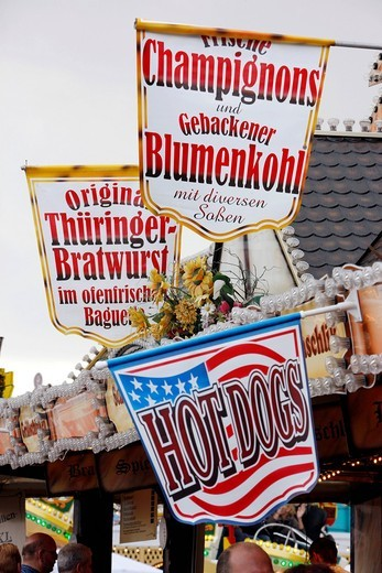 Cranger Kirmes fair, the biggest fair in the Ruhr area, at the Rhine_Herne Canal, Herne, North Rhine_Westphalia, Germany, Europe : Stock Photo