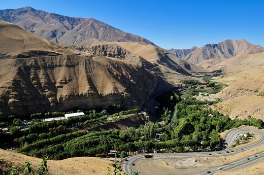 Stock Photo: 1848-467422 Valley in the central Alborz Mountains, Iran, Persia, Asia