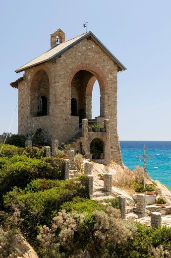Stock Photo: 1848-467580 Capo Santa Croce Chapel, Alassio, Italian Riviera, Liguria, Italy, Europe