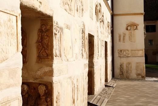 Stock Photo: 1848-46769 Roman reliefs in the arcade court of Schloss Seggau near Leibnitz, Styria, Austria, Europe