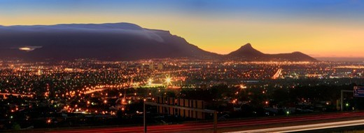 Cape Town in the evening, South Africa, Africa : Stock Photo