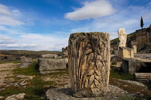 Roman city, archaeological site of Segóbriga, Saelices, Cuenca, Castilla_La Mancha, Spain, Europe : Stock Photo
