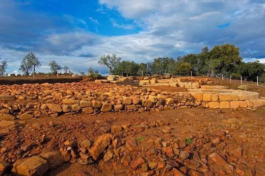 Stock Photo: 1848-468205 Roman ruins of Cáparra, Guijo de Jarandilla, Cáceres province, Ruta de la Plata, Extremadura, Spain, Europe