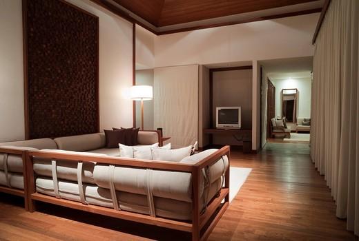 Hotel suite, The Sarojin Hotel, Khuk Khak Beach, Khao Lak, Phang Nga, Thailand, Asia : Stock Photo