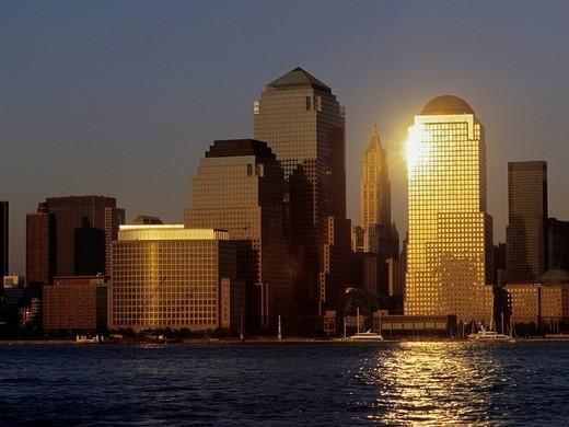 Stock Photo: 1848-46884 World Financial Center, downtown Manhattan, New York City, USA