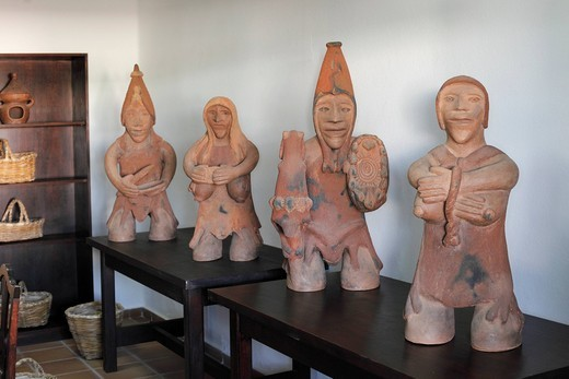 Clay figures in the Casa Museo del Campesino, Lanzarote, Canary Islands, Spain, Europe : Stock Photo