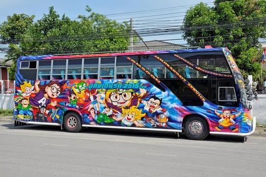 Stock Photo: 1848-469598 Elaborately painted coach, Thailand, Asia