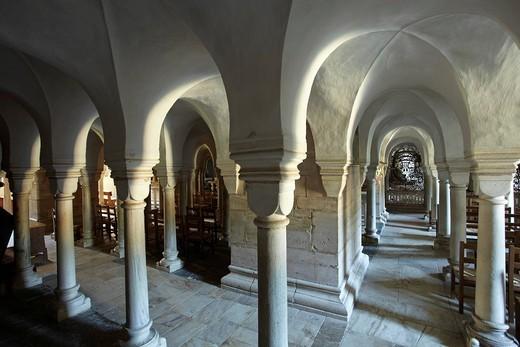 Gurk Cathedral, crypt, Carinthia, Austria, Europe : Stock Photo