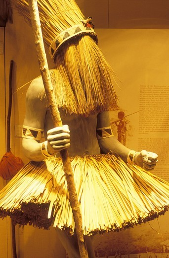 Stock Photo: 1848-470775 Dance costume of the Bantu in the South African Museum, initiation ritual, Museum, Cape Town, Western Cape, South Africa, Africa