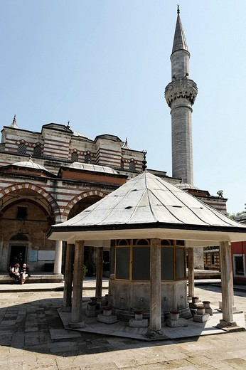 Zal Mahmud Pasa Mosque, designed by the famous architect Sinan, Muslim village Eyuep, Golden Horn, Istanbul, Turkey : Stock Photo