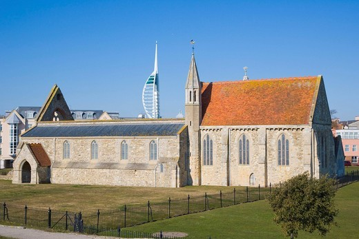 Stock Photo: 1848-471867 Royal Garrison Church, Domus Dei, Hospital of Saint Nicholas, Old Portsmouth, Hampshire, England, United Kingdom, Europe