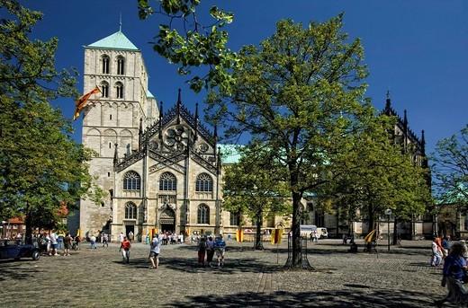 Stock Photo: 1848-472517 Sankt Paulus Cathedral, Muenster, North Rhine_Westphalia, Germany, Europe