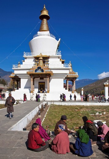 Memorial Chorten, Thimphu, Bhutan, South Asia : Stock Photo