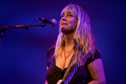 The U.S. songwriter and pop singer Rickie Lee Jones live at the Blue Balls Festival in the concert hall of the KKL in Luzern, Switzerland : Stock Photo