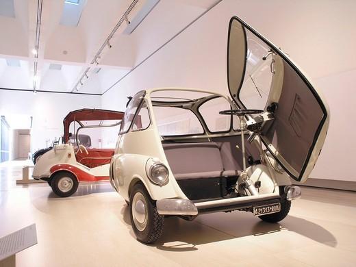 BMW Isetta, Mitomacchina exhibition, Museum of Modern Art, MART, Rovereto, Italy, Europe : Stock Photo