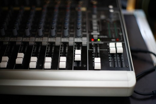 Professional mixing desk : Stock Photo