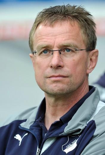 Ralf Rangnick, Manager of TSG 1899 Hoffenheim : Stock Photo