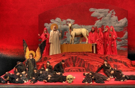 Living image, tableaux vivants, Passover, Oberammergau Passion Play 2010, Bavaria, Germany, Europe : Stock Photo
