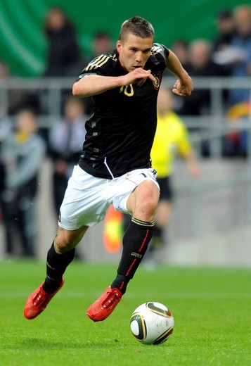 Lukas Podolski, international soccer match Germany vs. Malta 3_0, Tivoli Stadium, Aachen, North Rhine_Westphalia, Germany, Europe : Stock Photo
