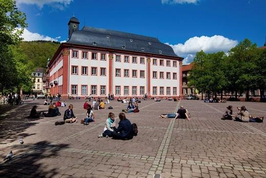 The Old University, Heidelberg, Rhine_Neckar Metropolitan Region, Baden_Wuerttemberg, Germany, Europe : Stock Photo