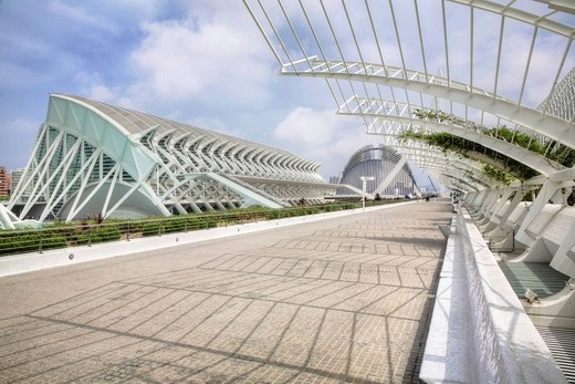 Ciudad de las Artes y las Ciencias City of Arts and Sciences, Valencia, Comunidad Valencia, Spain, Europe : Stock Photo