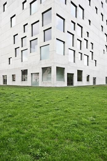 Sanaa building, Zollverein Coal Mine Industrial Complex, Essen, North Rhine_Westphalia, Germany, Europa : Stock Photo