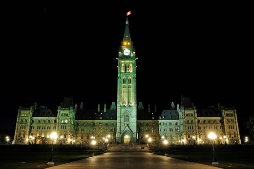 Stock Photo: 1848-477714 The government buildings in Ottawa, Ontario, Canada
