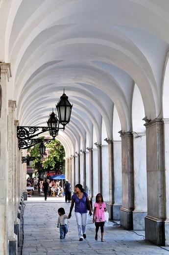Arcades in the old council building Cabildo, Cordoba, Argentina, South America : Stock Photo