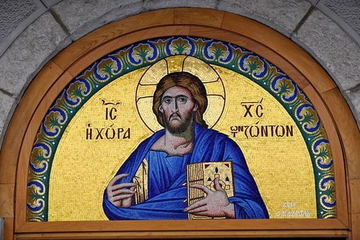Detail, monastery of St. Theodora, Thessaloniki, Chalkidiki, Macedonia, Greece, Europe : Stock Photo