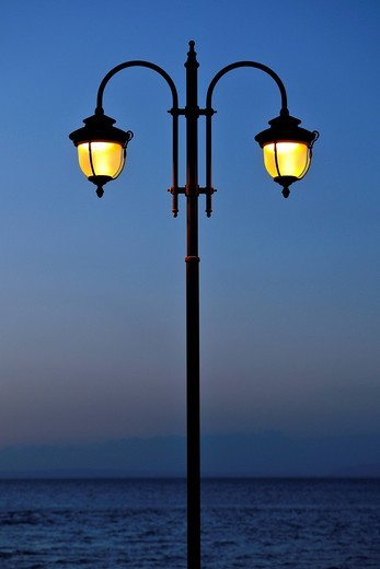 Lantern, magic hour : Stock Photo