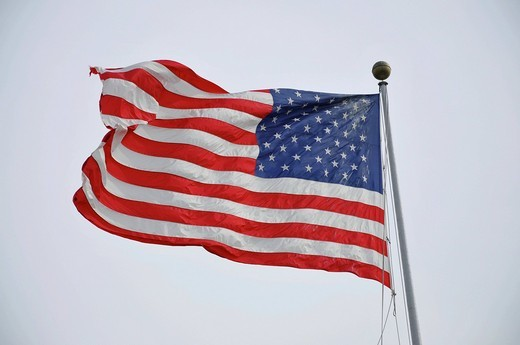 Stock Photo: 1848-478622 Flag of the United States, New York, USA, United States of America, North America