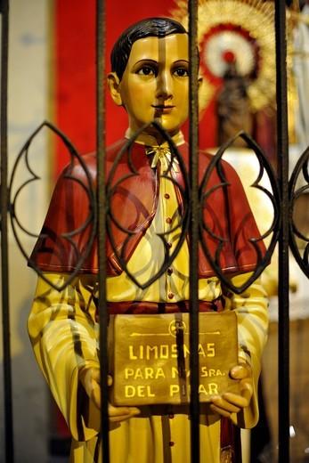 Stock Photo: 1848-479061 Interior, church of Sant Jaume, saint statue, Barcelona, Catalonia, Spain, Europe