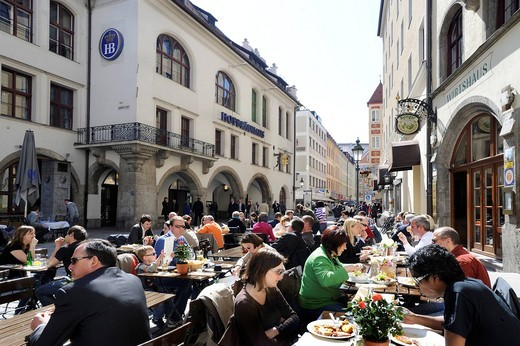 Hofbraeuhaus tavern on Platzl square in Munich, Bavaria, Germany, Europe : Stock Photo