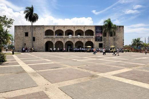 Stock Photo: 1848-479222 Alcázar de Colón or Columbus Alcazar residence on the Plaza de Hispanidad square, Santo Domingo, Dominican Republic, Caribbean