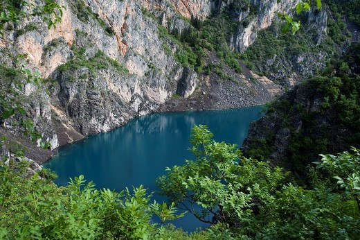 Modro Jezero, Blue Lake, Imotski, County of Split_Dalmatia, Croatia, Europe : Stock Photo