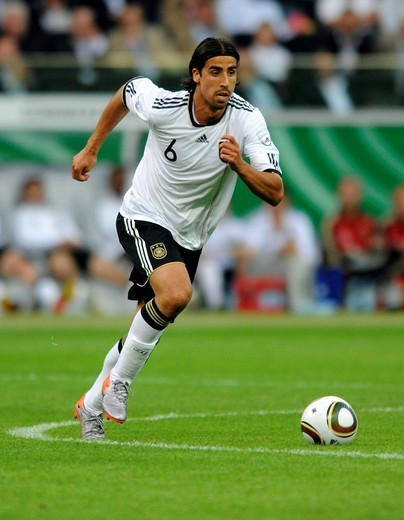 Sami Khedira, football match, Germany vs. Bosnia_Herzegovina, 3_1, Commerzbank Arena, Frankfurt, Hesse, Germany, Europe : Stock Photo