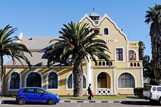 Old district court, architecture from the German colonial period, Swakopmund, Erongo region, Namibia, Africa : Stock Photo