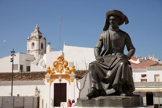 Stock Photo: 1848-481682 Memorial to Henry the Navigator, Infante D. Henrique, on the Praça da República in Lagos, Algarve, Portugal, Europe