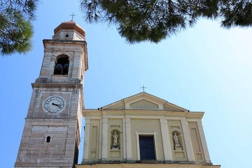Church of San Zeno di Montagna on Monte Baldo, Lake Garda, Veneto, Italy, Europe : Stock Photo