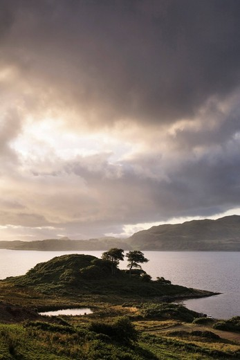 Stock Photo: 1848-483789 Sunset over Loch Melfort, Argyll, Scotland, United Kingdom, Europe